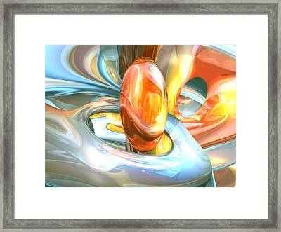 Mango And Cream Abstract Framed Print by Alexander Butler