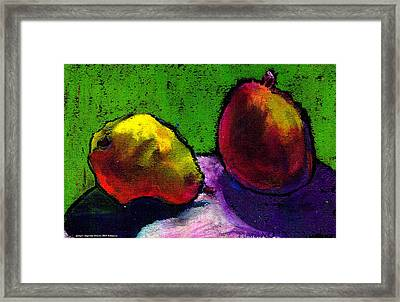 Mango And Pear Framed Print by Angelina Marino