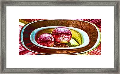 Mango Bowl Framed Print