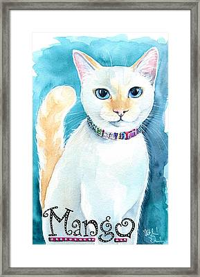 Mango - Flame Point Siamese Cat Painting Framed Print