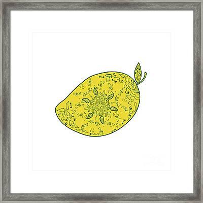 Mango Fruit Mandala Framed Print by Aloysius Patrimonio