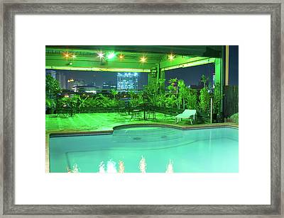 Mango Park Hotel Roof Top Pool Framed Print by James BO  Insogna