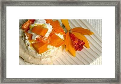 Mango Pavlova Framed Print