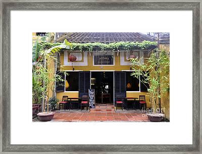 Mango Restaurant Framed Print by Andrew Dinh