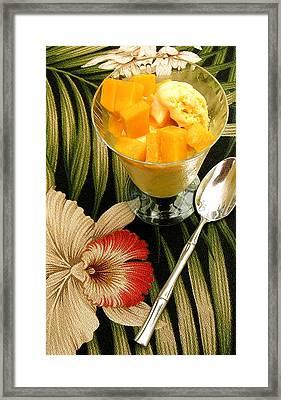 Mango Tango Ice Cream Framed Print by James Temple
