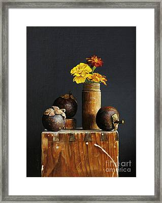 Mangosteens Framed Print by Larry Preston
