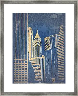Manhattan 1 Framed Print by Naxart Studio