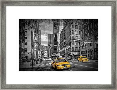 Manhattan 5th Avenue Framed Print
