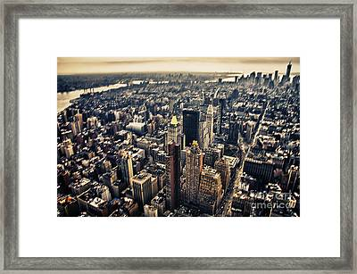 Manhattan Framed Print by Alessandro Giorgi Art Photography