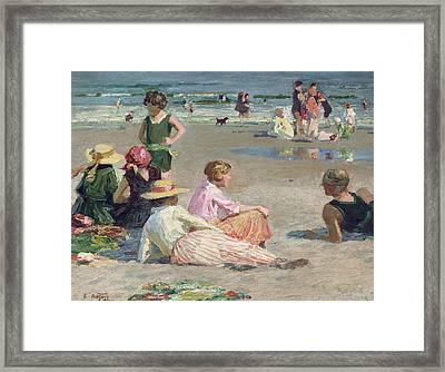 Manhattan Beach  Framed Print by Edward Henry Potthast