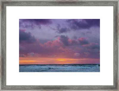 Manhattan Beach Sunset Framed Print by Ariane Moshayedi