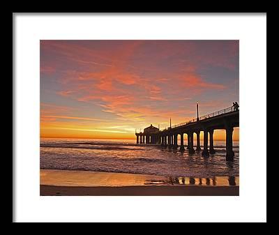 Beach Sunset Framed Prints