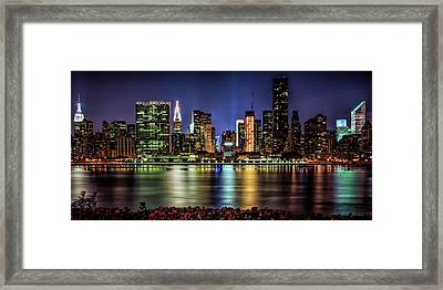 Framed Print featuring the photograph Manhattan Beauty by Theodore Jones