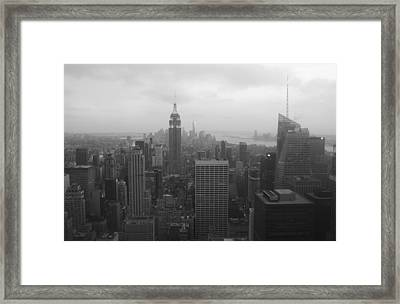 Manhattan Black And White Framed Print