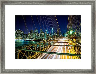 Manhattan Bound Framed Print by Az Jackson