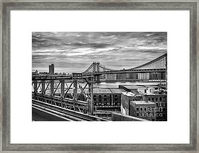 Manhattan Bridge Framed Print by John Farnan