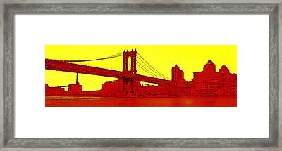 Manhattan Bridge Framed Print by Julie Lueders