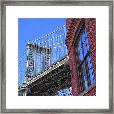 Framed Print featuring the photograph Manhattan Bridge by Mitch Cat