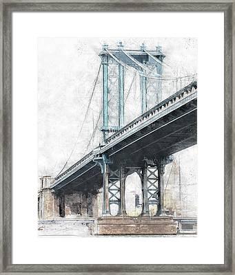 Manhattan Bridge Nyc  Framed Print
