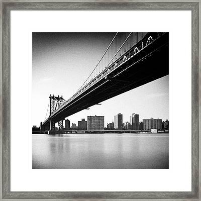 Manhattan Bridge Framed Print by Randy Le'Moine