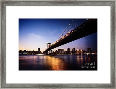 Framed Print featuring the photograph Manhattan Bridge by Scott Kemper