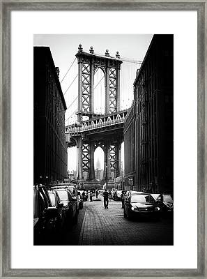 Manhattan Bridge View Framed Print by Jessica Jenney