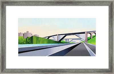 Manhattan Bridges Framed Print by Mark Webster
