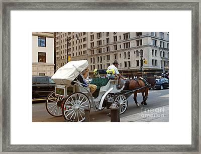 Manhattan Buggy Ride Framed Print by Madeline Ellis