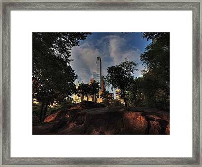 Manhattan - Central Park 002 Framed Print