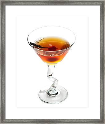 Manhattan Cocktail Framed Print by Boyan Dimitrov