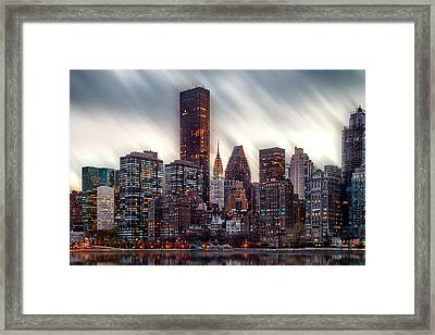 Manhattan Daze Framed Print by Az Jackson