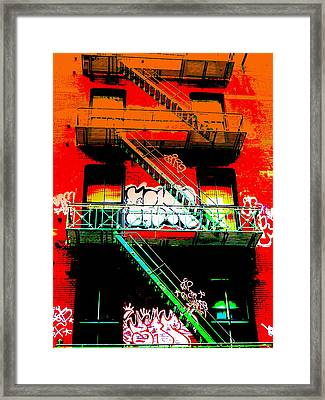 Manhattan Fire Escape Framed Print by Funkpix Photo Hunter