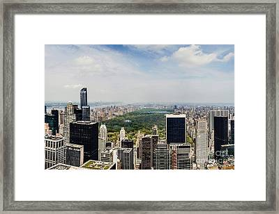 Manhattan Haze Framed Print by Az Jackson