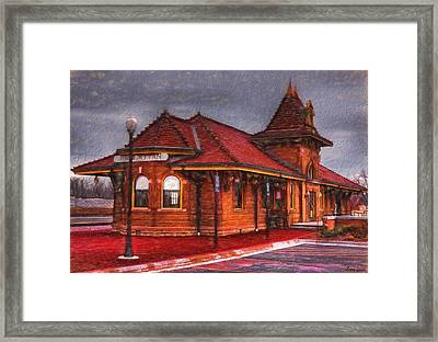 Manhattan Kansas Train Depot Framed Print