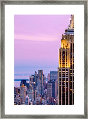 Manhattan Magic Framed Print by Az Jackson