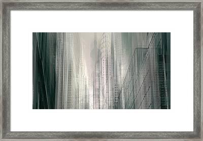 Manhattan Mayhem II Framed Print by Jessica Jenney
