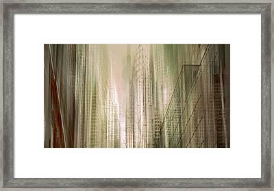 Manhattan Mayhem Framed Print by Jessica Jenney
