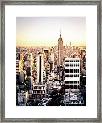 Manhattan Framed Print by Michael Weber