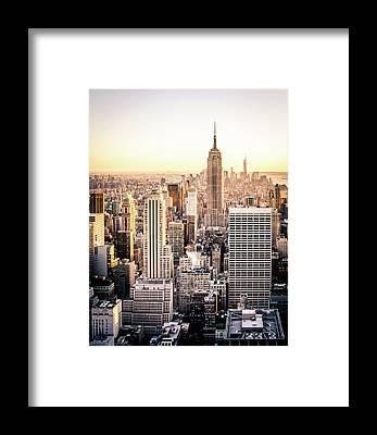 Large City Framed Prints