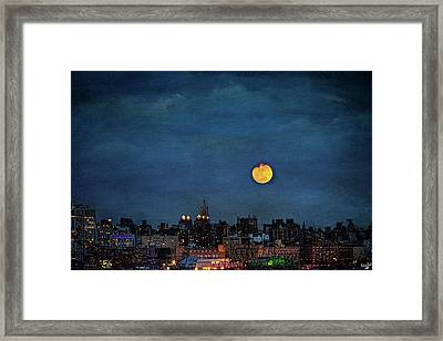 Manhattan Moonrise Framed Print