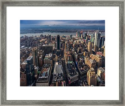 Manhattan, Ny Framed Print
