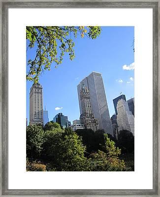 Manhattan Park Framed Print by ThiART ThiART