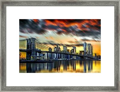 Manhattan Passion Framed Print by Az Jackson