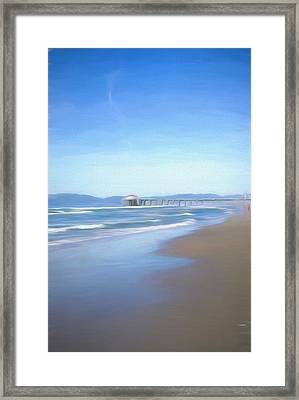 Framed Print featuring the photograph Manhattan Pier Art by Michael Hope