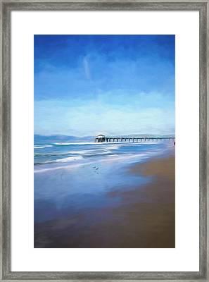 Framed Print featuring the photograph Manhattan Pier Blue Art by Michael Hope