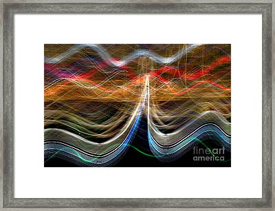 Manhattan Pulse Framed Print by Az Jackson