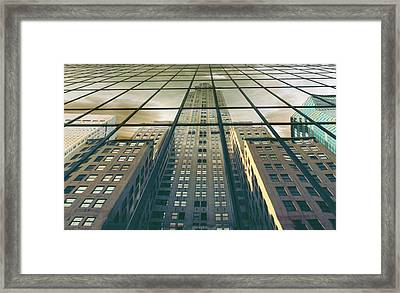 Framed Print featuring the photograph Manhattan Reflected by Jessica Jenney
