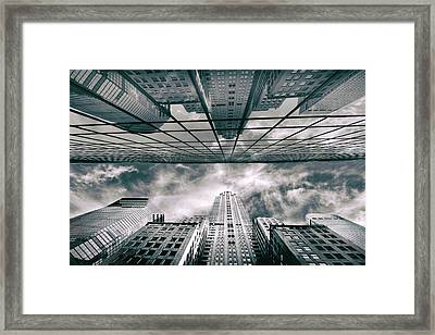 Framed Print featuring the photograph Manhattan Reflections by Jessica Jenney