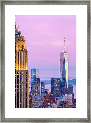 Manhattan Romance Framed Print