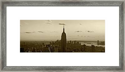 Manhattan Sky View Framed Print